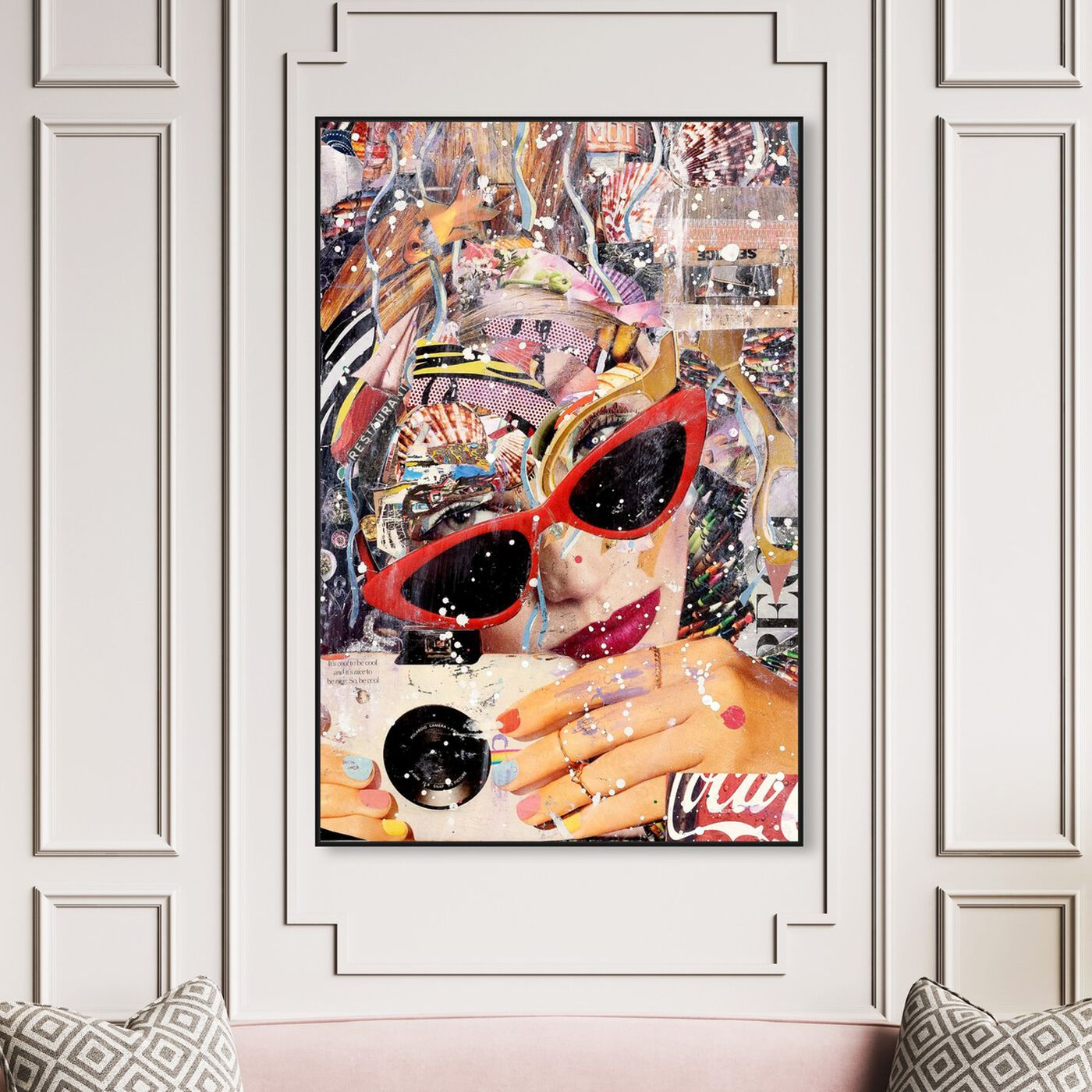 Hanging view of Katy Hirschfeld - Smile for the Camera featuring fashion and glam and portraits art.