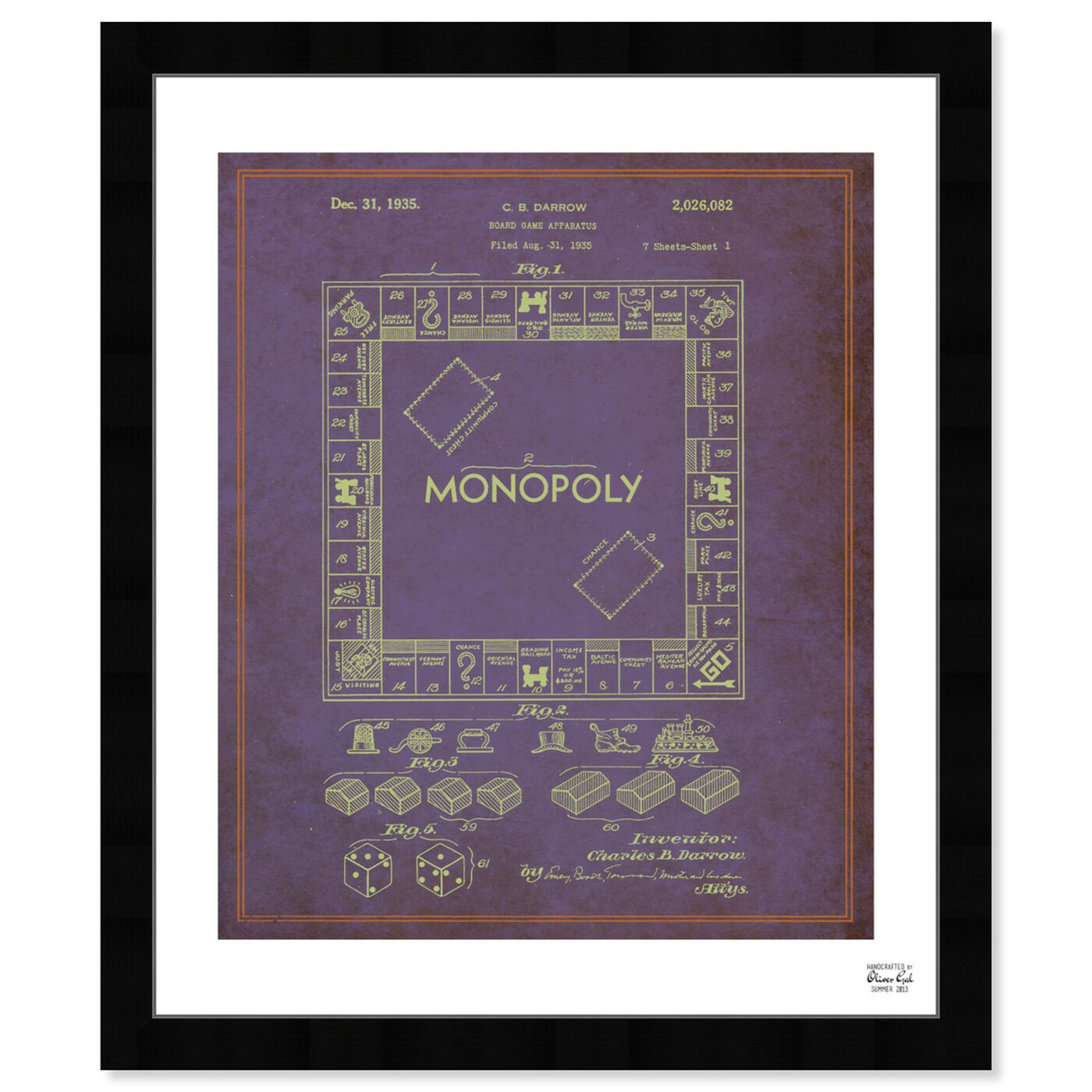 Front view of Monopoly 1935 featuring entertainment and hobbies and board games art.