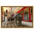 Front view of Delicate as an Elephant can Be featuring animals and zoo and wild animals art. image number null