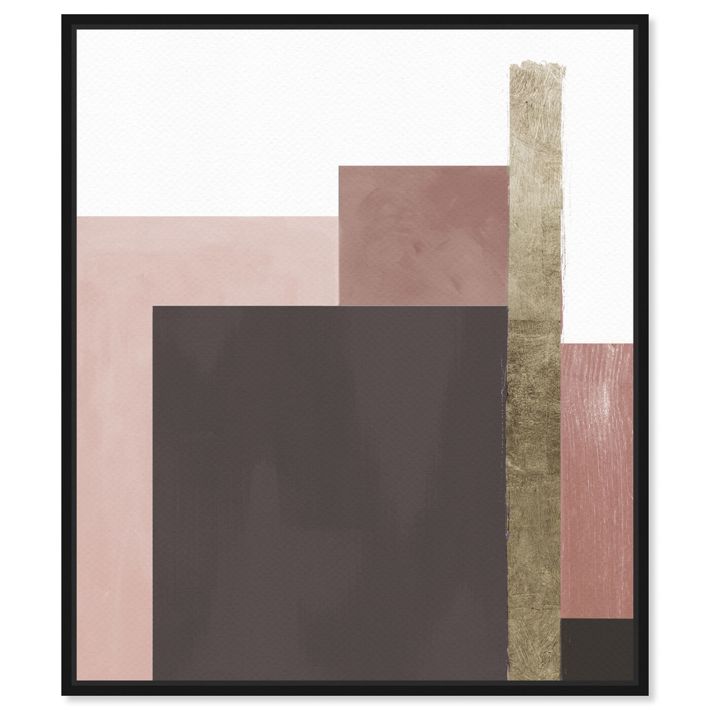 Front view of Me Boheme Neutral Champagne featuring abstract and geometric art.
