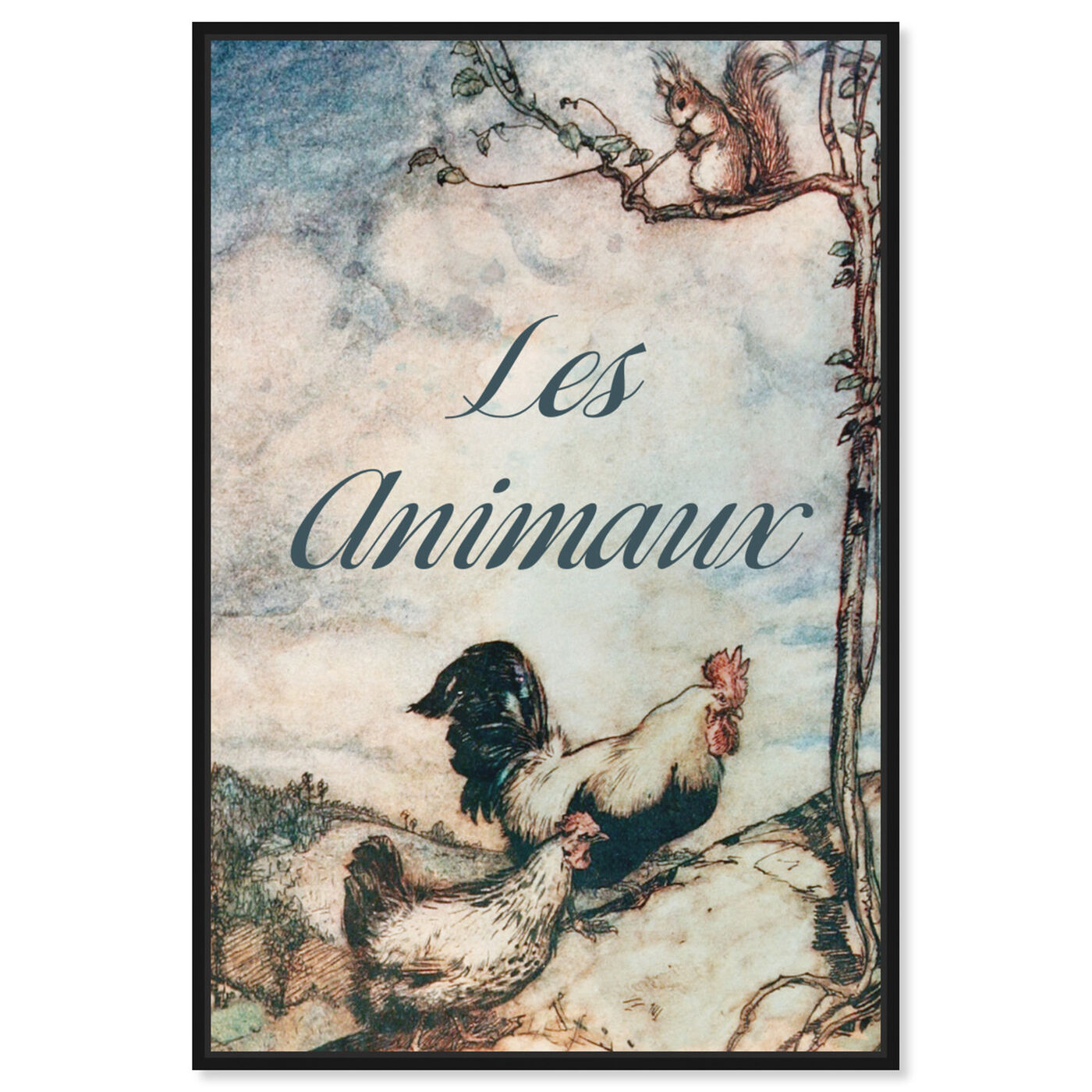 Front view of Les Animaux featuring animals and farm animals art.
