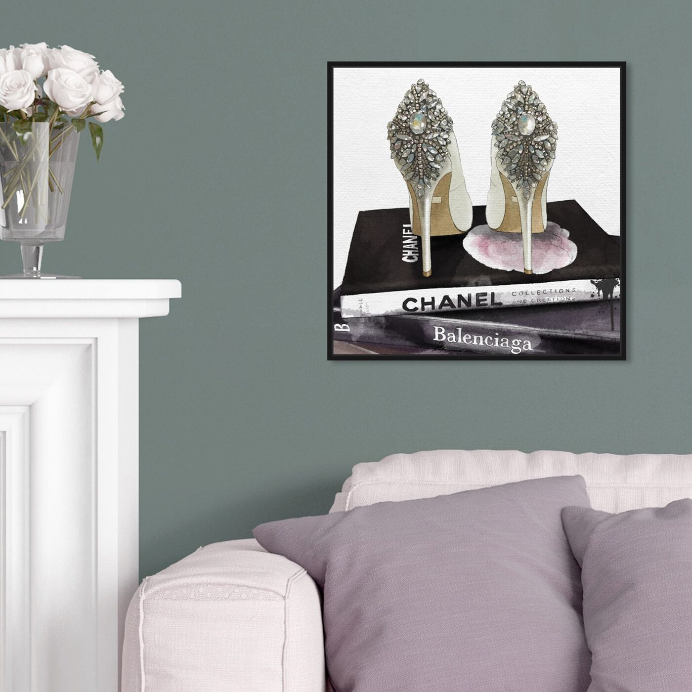 Hanging view of My Trophies featuring fashion and glam and shoes art.