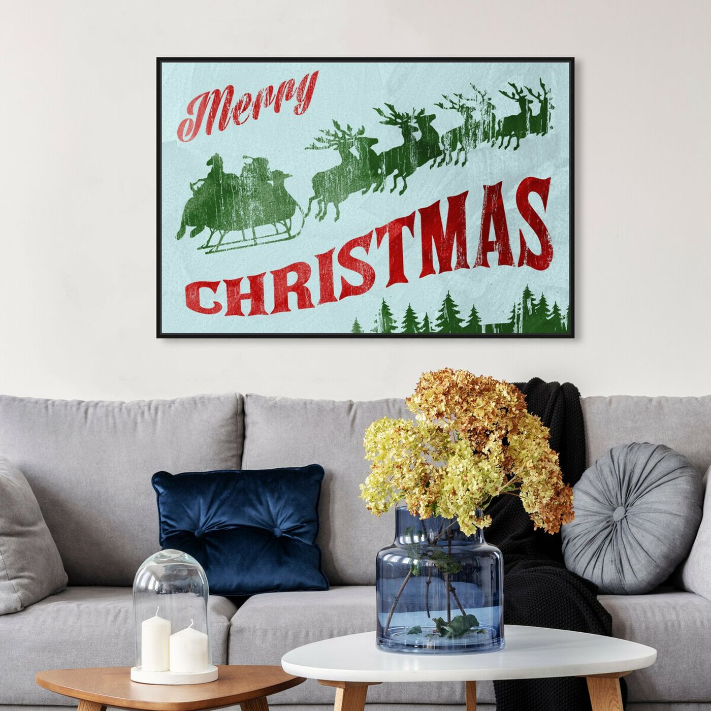Hanging view of Vintage XMas I featuring holiday and seasonal and holidays art.