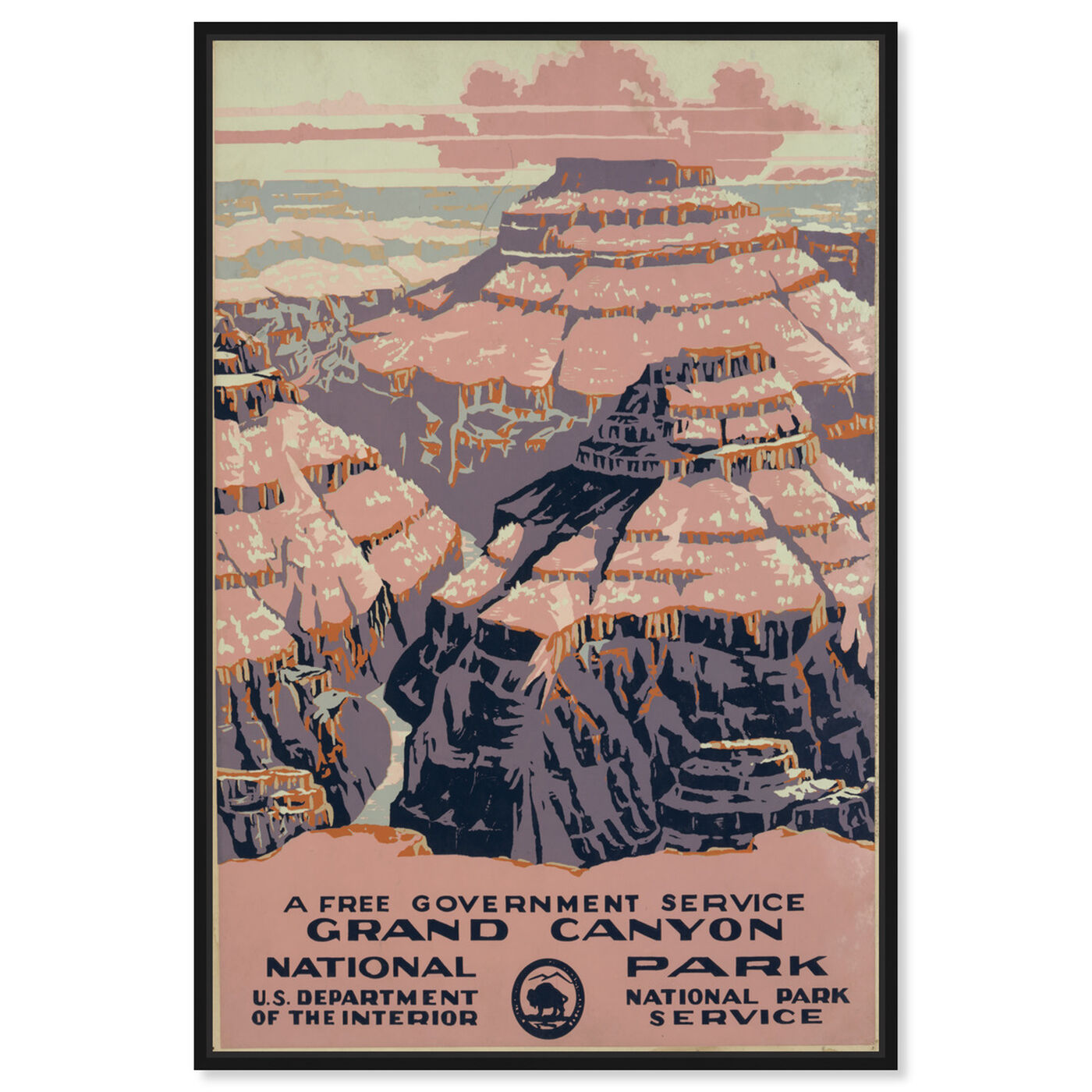 Front view of Grand Canyon featuring advertising and posters art.