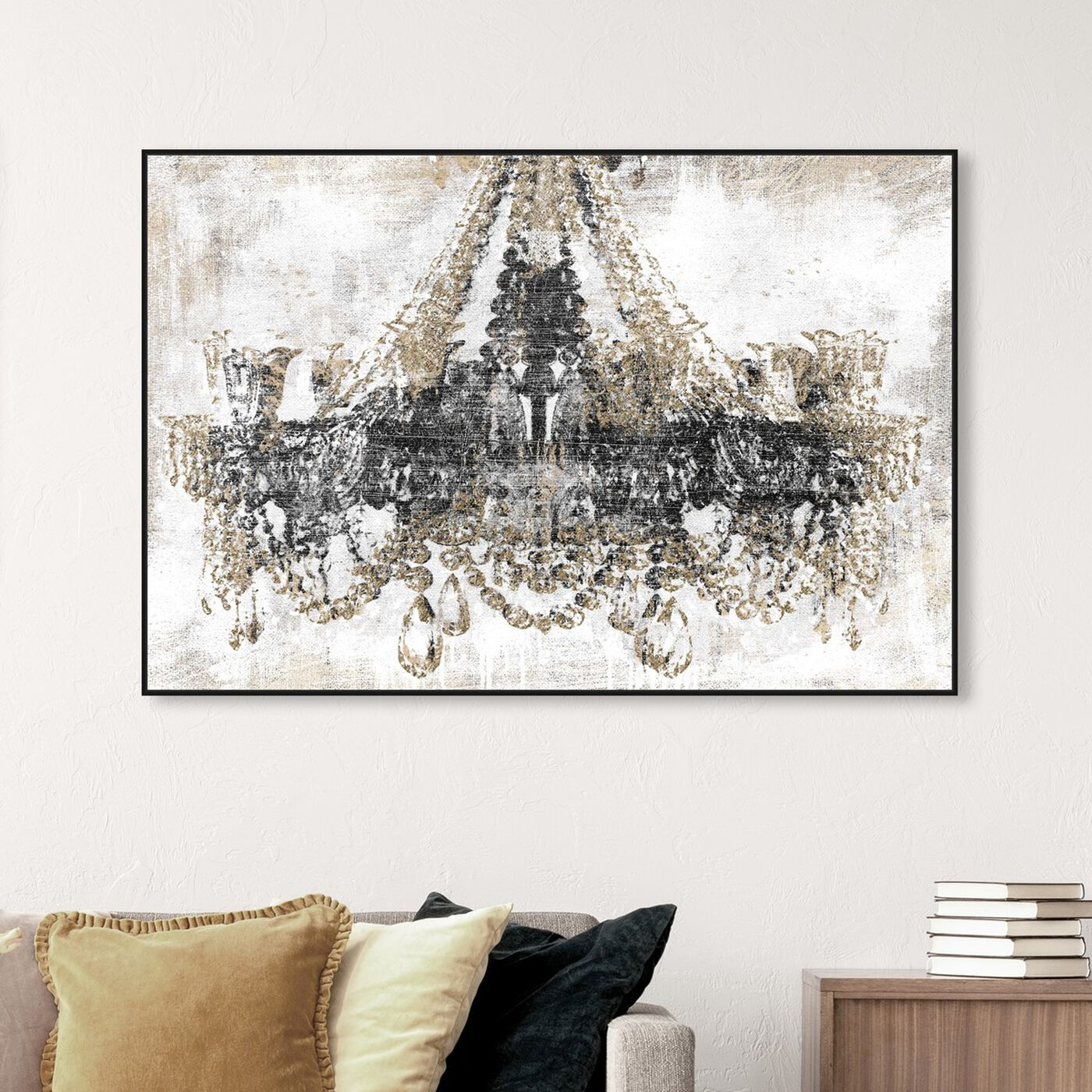Hanging view of Luxury Night Diamonds featuring fashion and glam and chandeliers art.