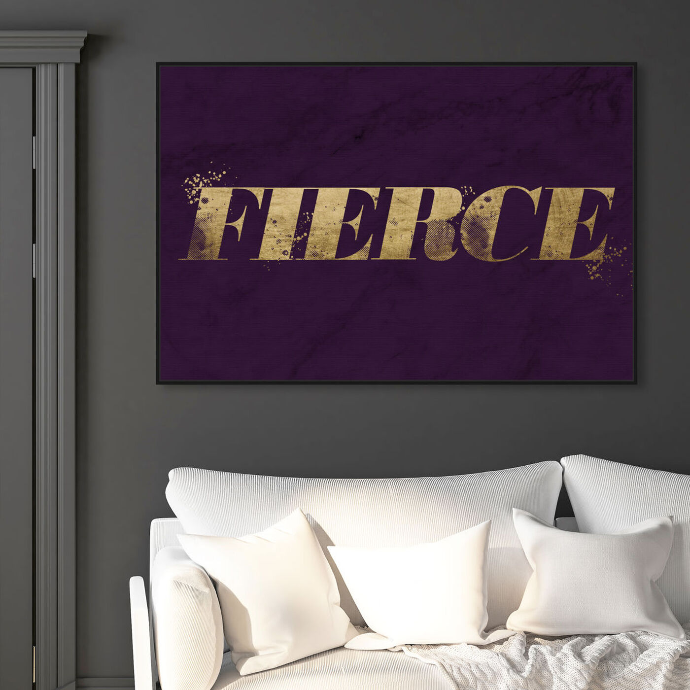 Hanging view of Fierce Violet Marble featuring typography and quotes and quotes and sayings art.
