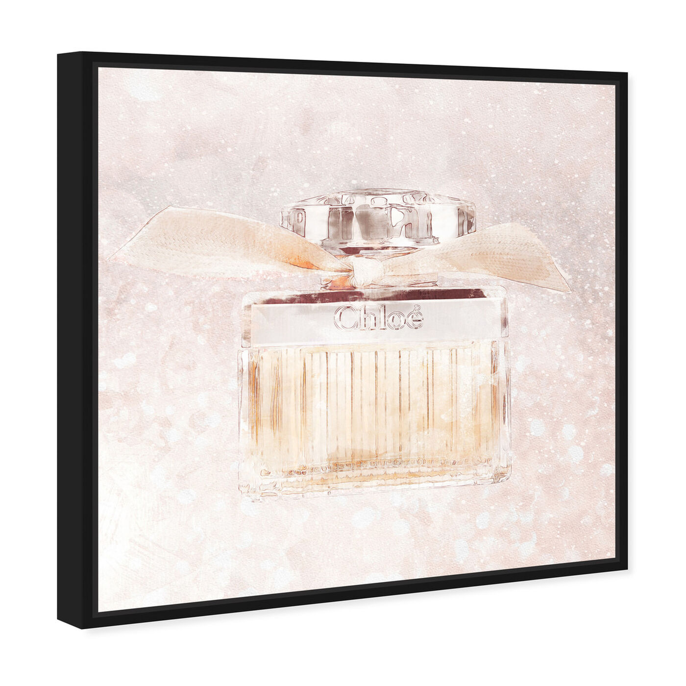 Angled view of Luxe Boutique Champagne Parfum featuring fashion and glam and perfumes art.