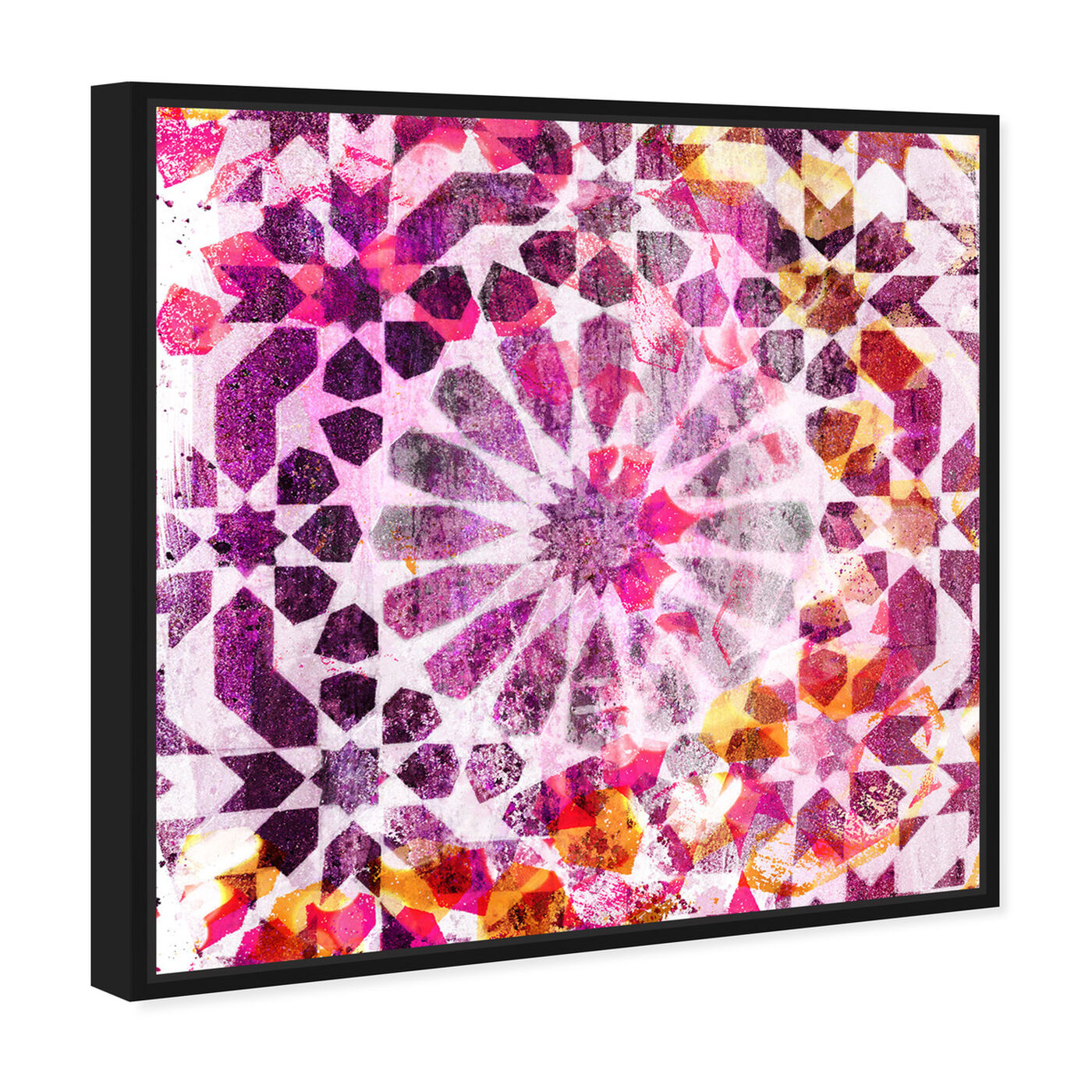 Angled view of Majid Pink featuring abstract and patterns art.