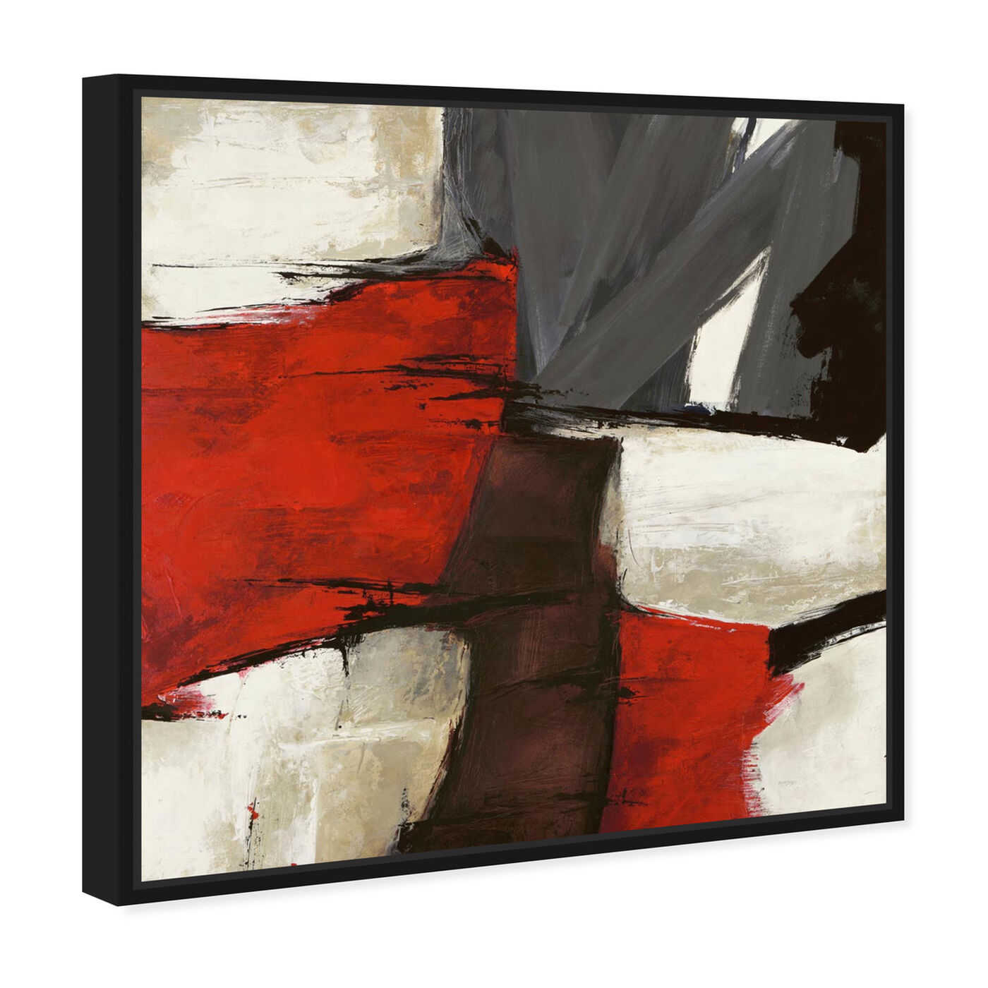 Angled view of Sai - Rubrum featuring abstract and paint art.