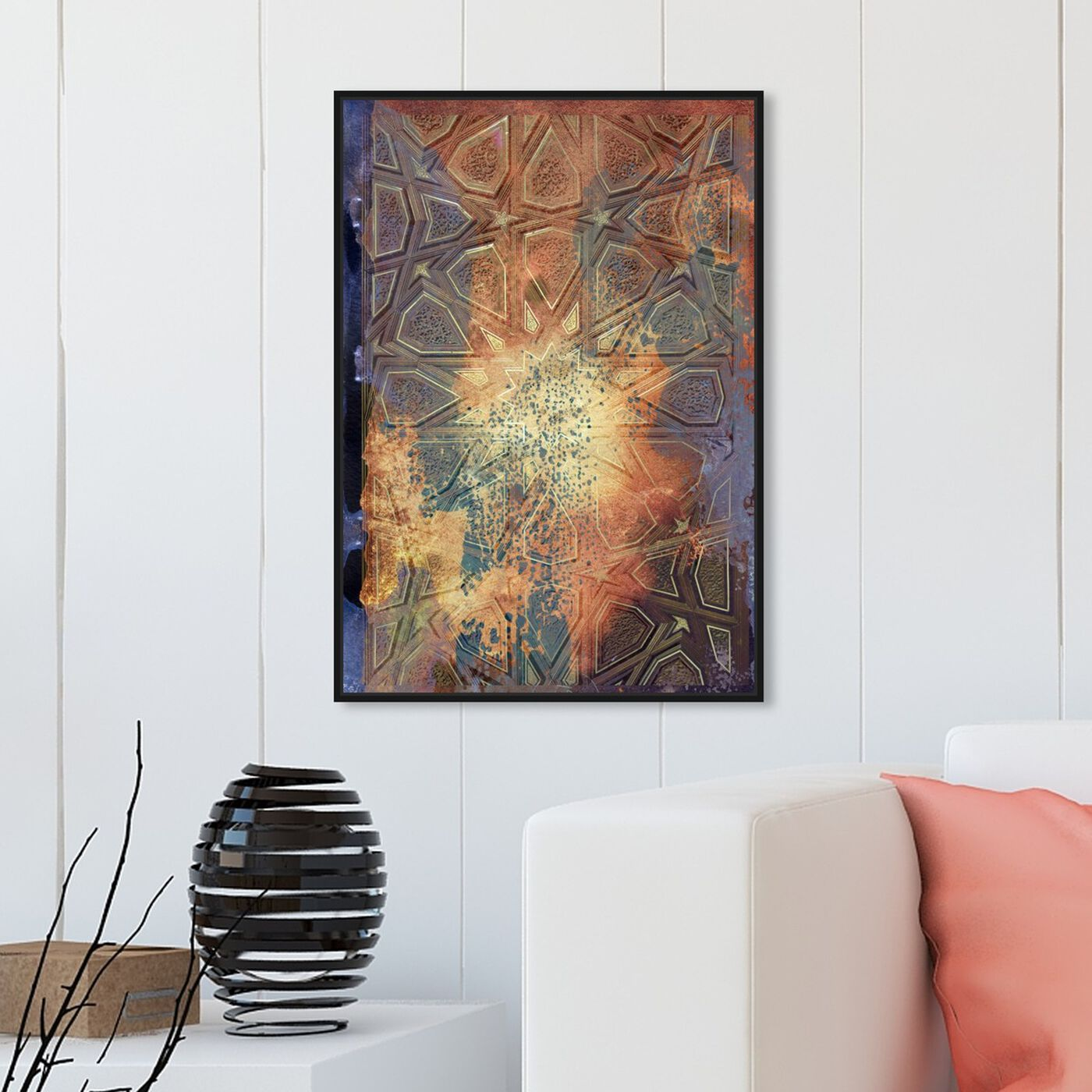 Hanging view of Baladi Shine featuring abstract and shapes art.