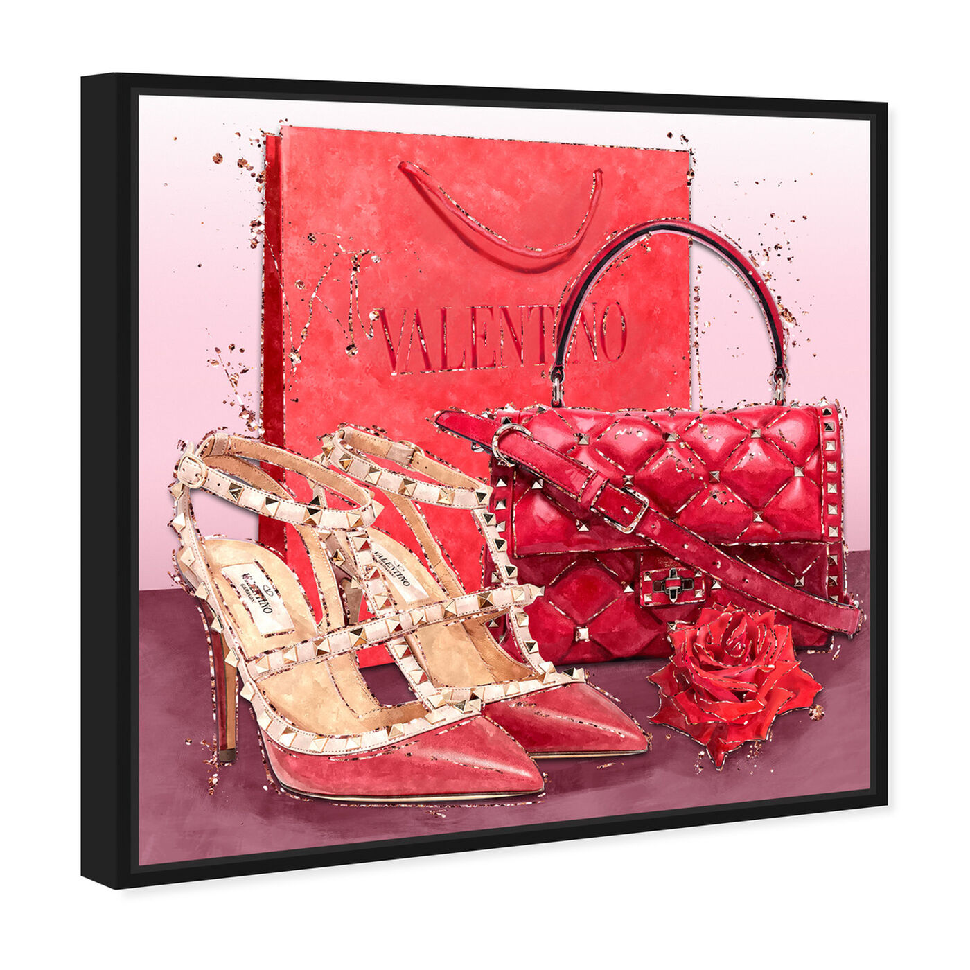 Angled view of Passion Red Valentine featuring fashion and glam and shoes art.