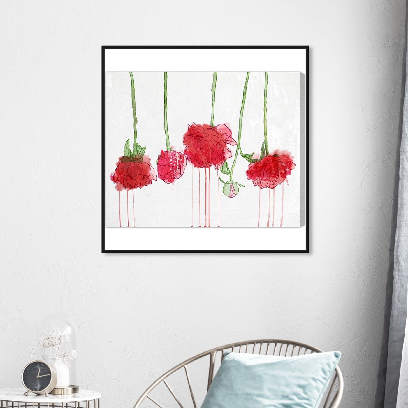 Hanging view of Drying Carnations featuring floral and botanical and florals art.