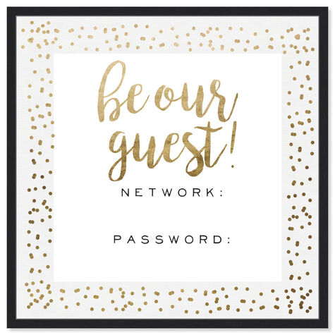 Be Our Guest Wifi Gold Confetti