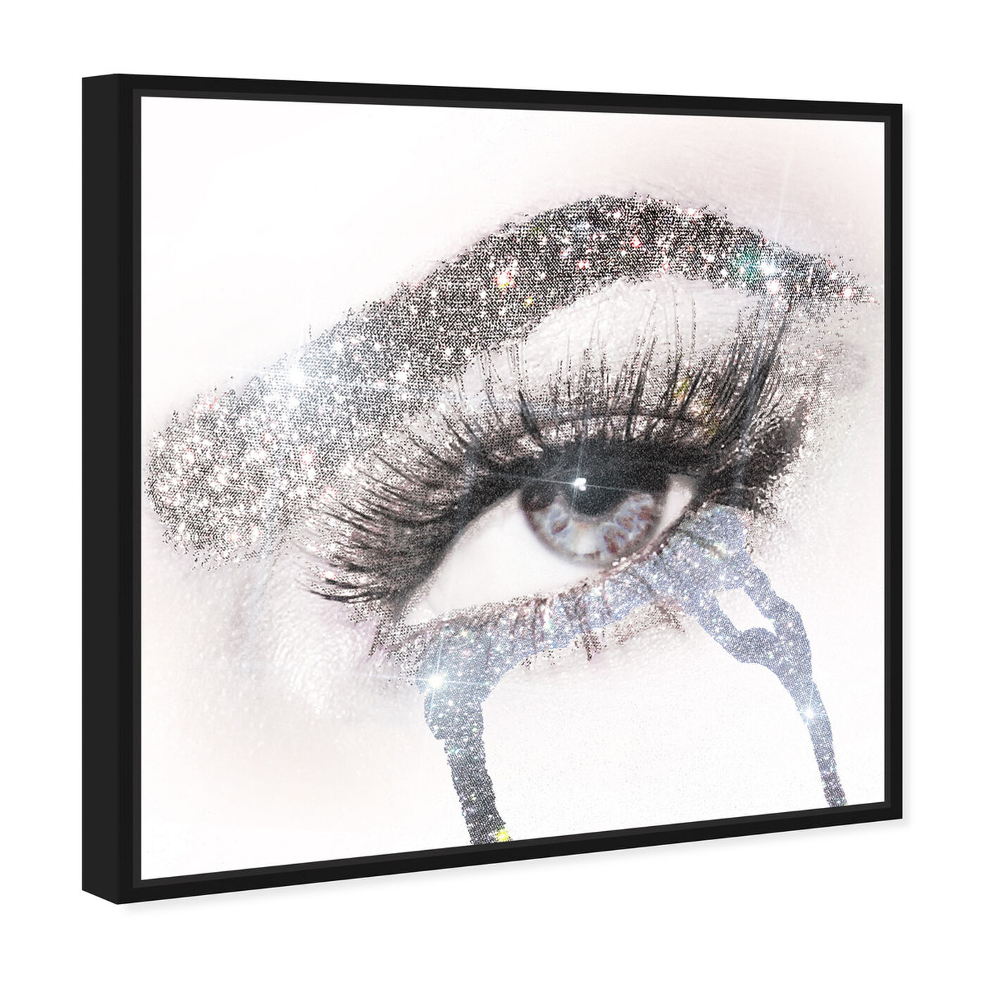 Angled view of Eyes and Rhinestones II featuring fashion and glam and makeup art.