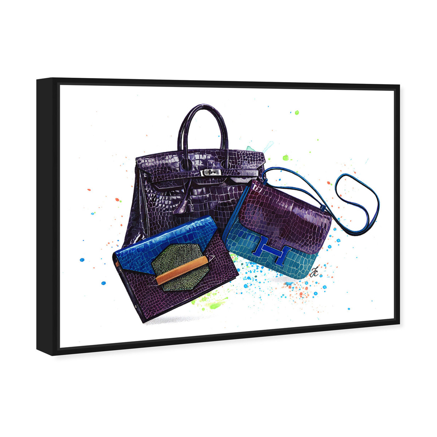 Angled view of Doll Memories - Ultraviolet Closet featuring fashion and glam and handbags art.