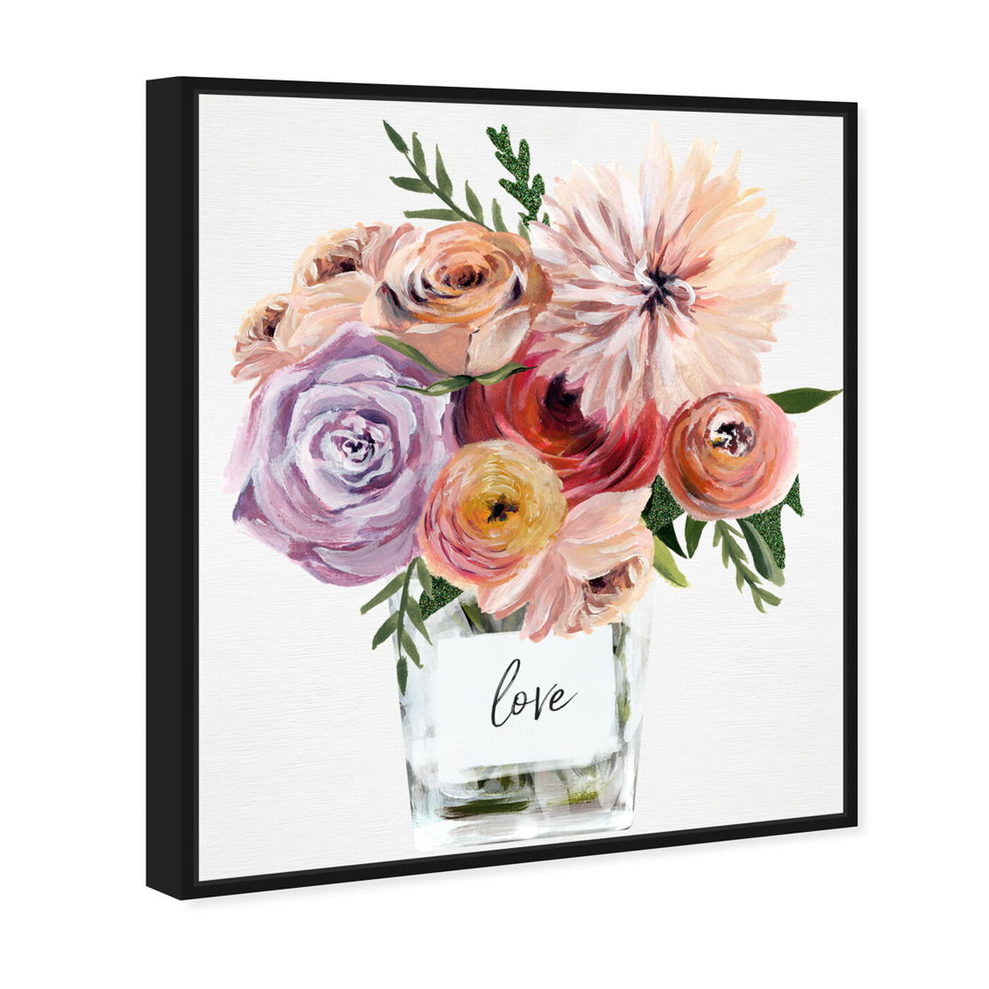 Angled view of Love Me Some Florals featuring floral and botanical and florals art.