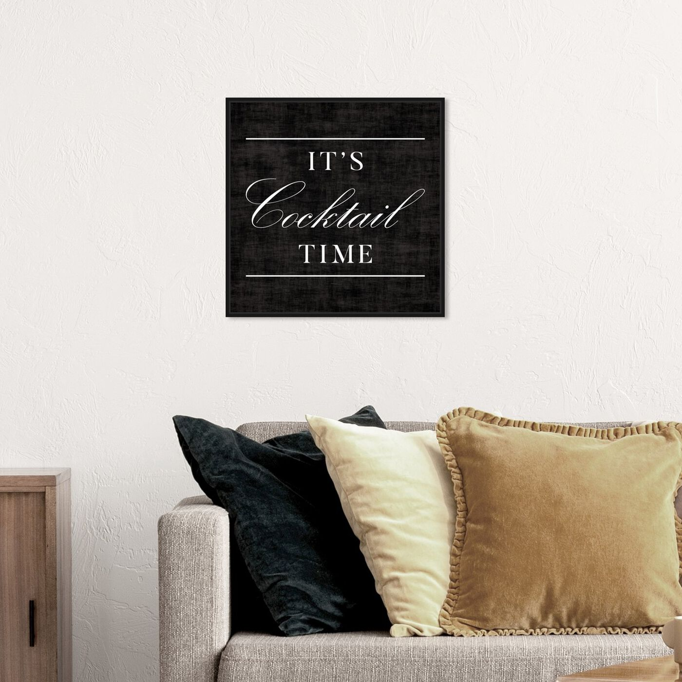 Hanging view of Cocktail Time featuring typography and quotes and quotes and sayings art.