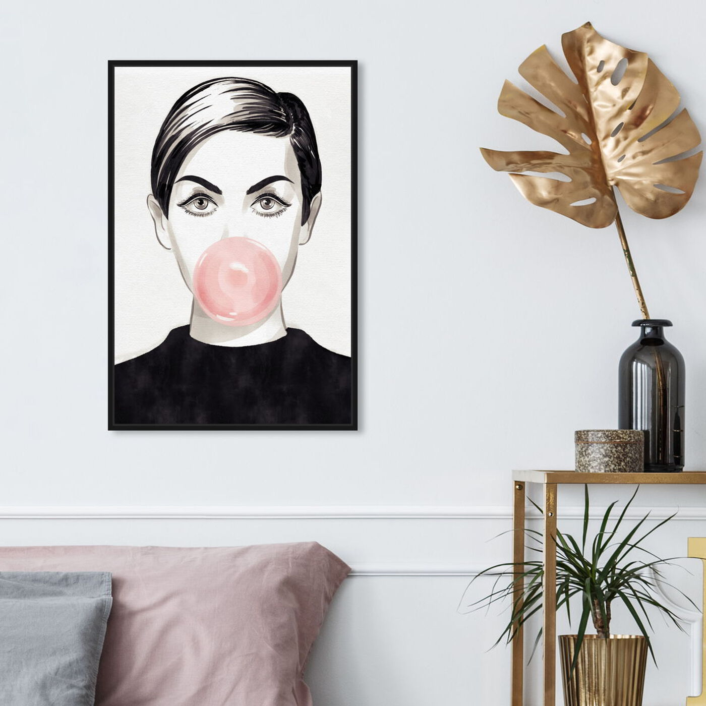 Hanging view of Bubblegum Idol featuring people and portraits and portraits art.