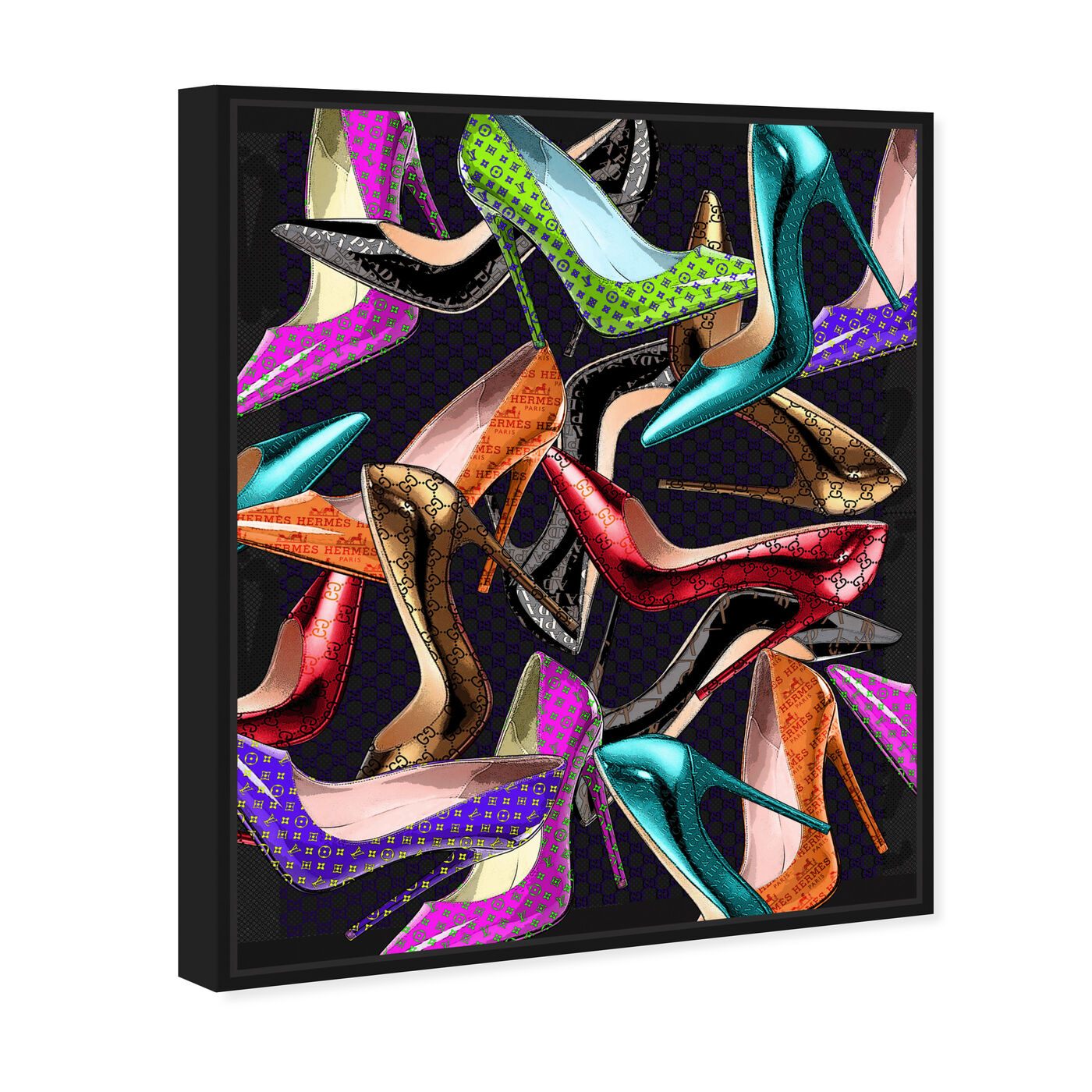 Angled view of Want More Shoes featuring fashion and glam and shoes art.