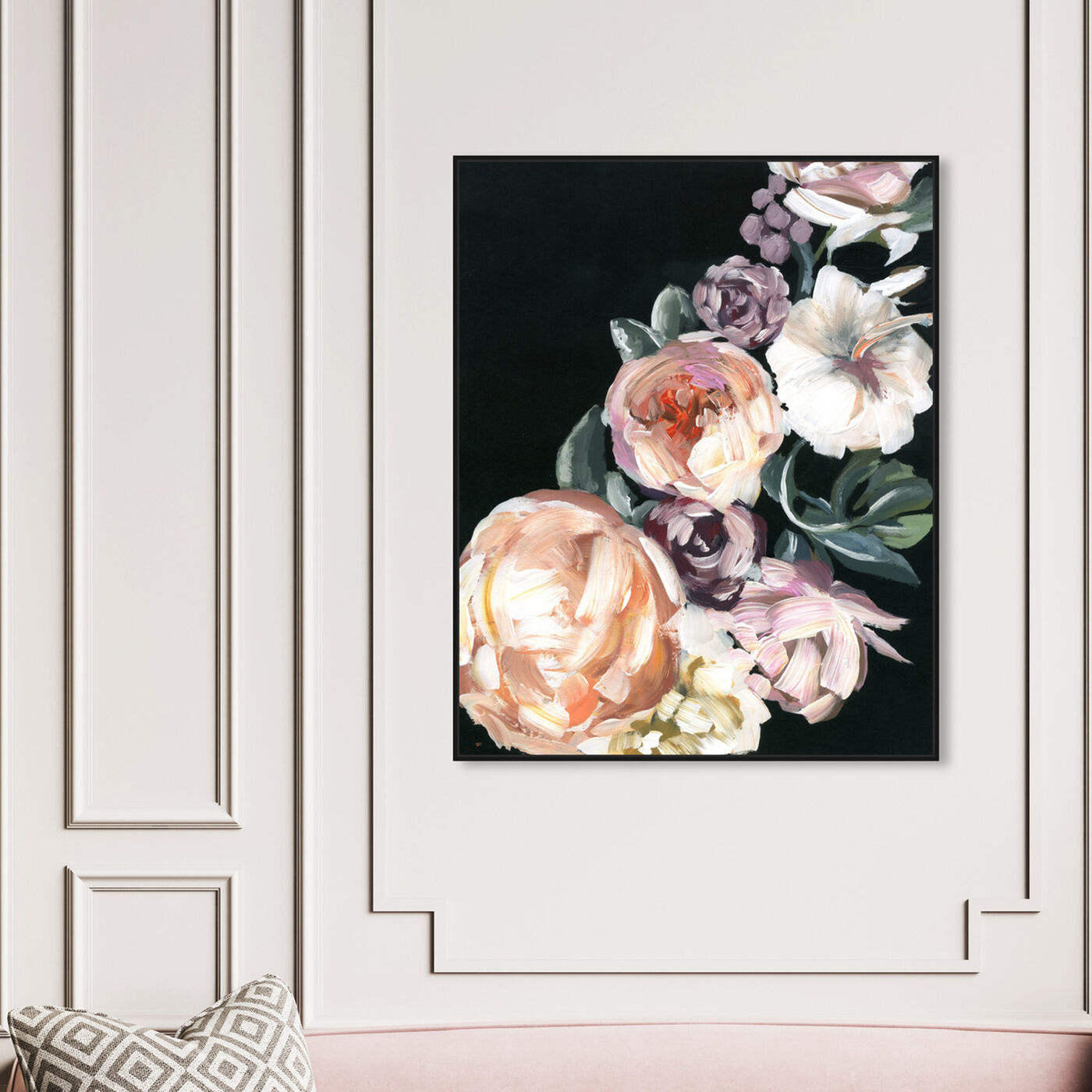 Hanging view of Opaques featuring floral and botanical and florals art.