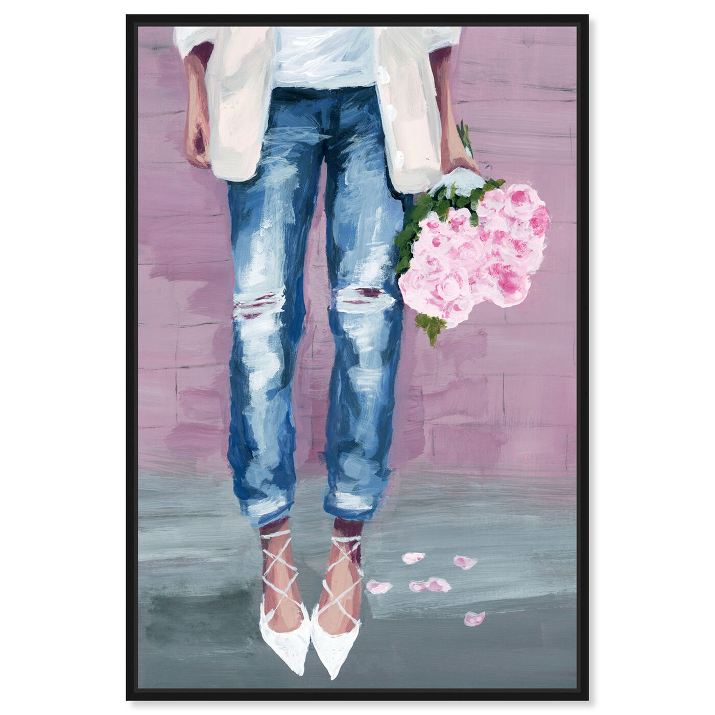 Front view of Fashion Blogger Flowers featuring fashion and glam and outfits art.