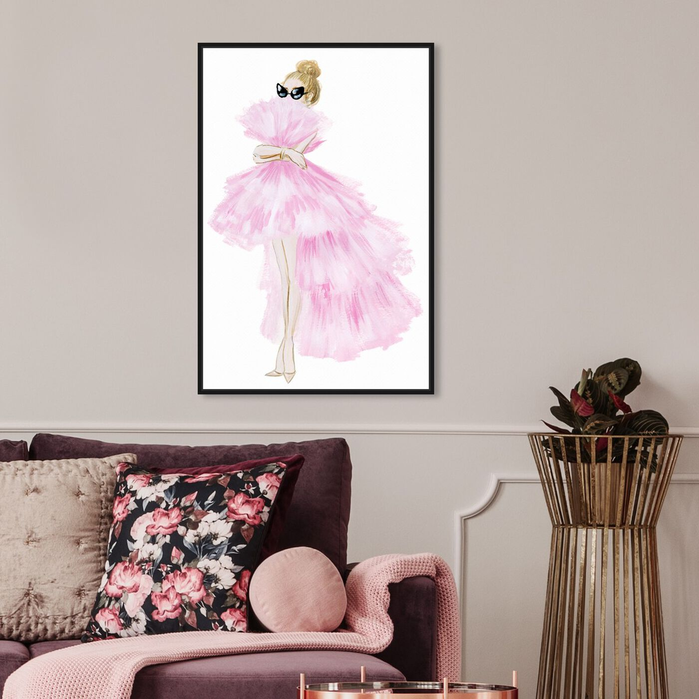 Hanging view of Pink Tutu Dress featuring fashion and glam and dress art.