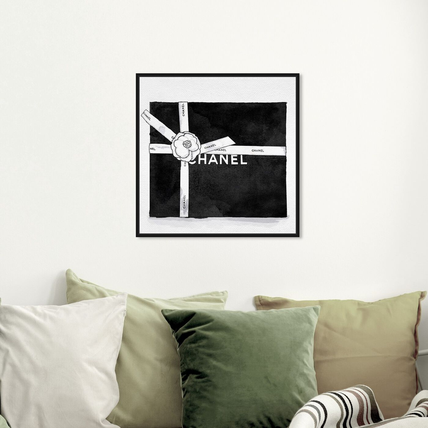 Hanging view of Fashionable Gift I featuring fashion and glam and lifestyle art.