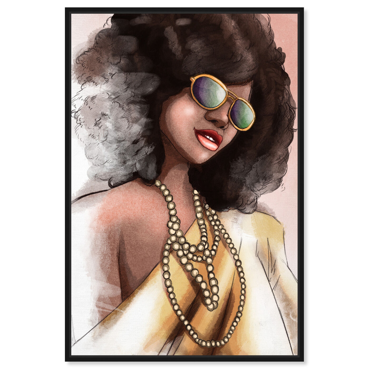 Front view of Elegant Fade featuring fashion and glam and portraits art.