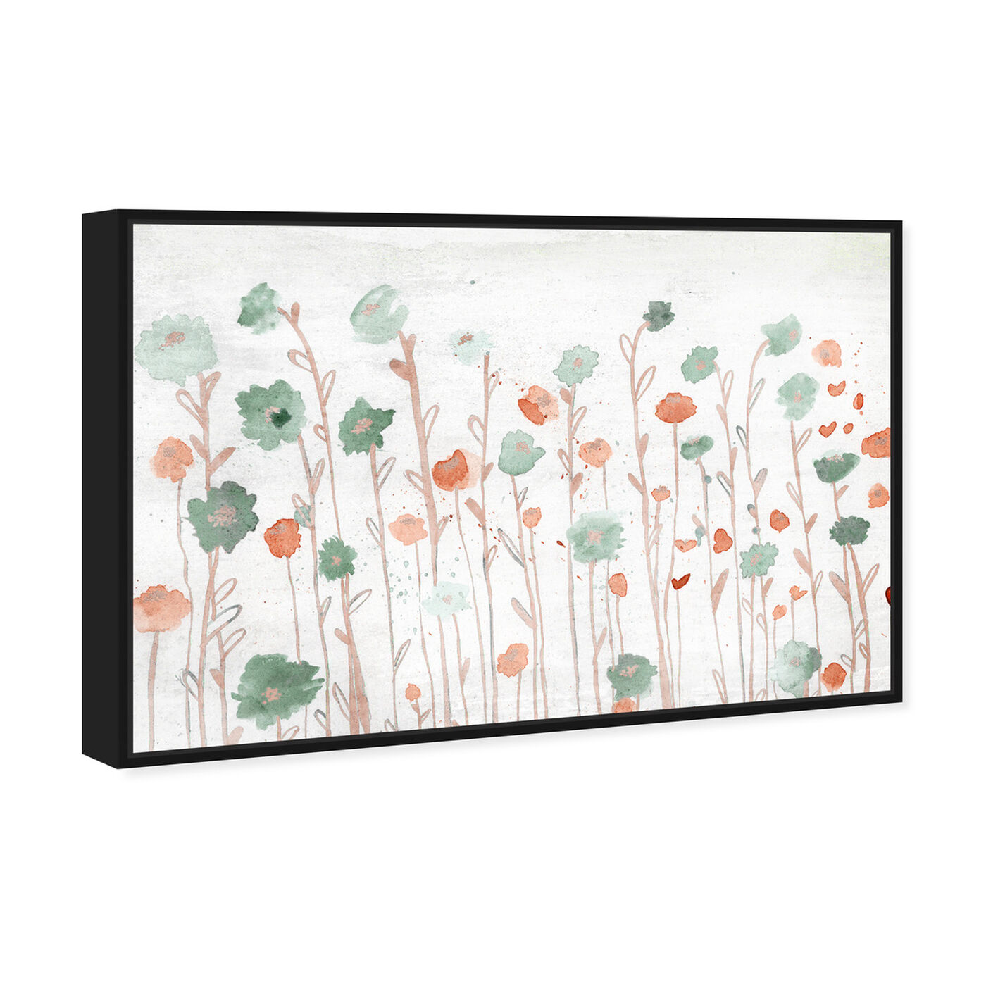 Angled view of Beautiful Growth Orange featuring floral and botanical and florals art.