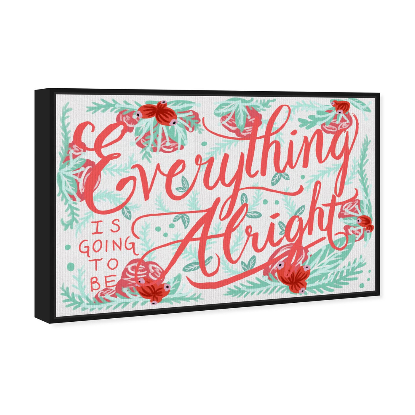 Angled view of Alright Minty I featuring typography and quotes and inspirational quotes and sayings art.