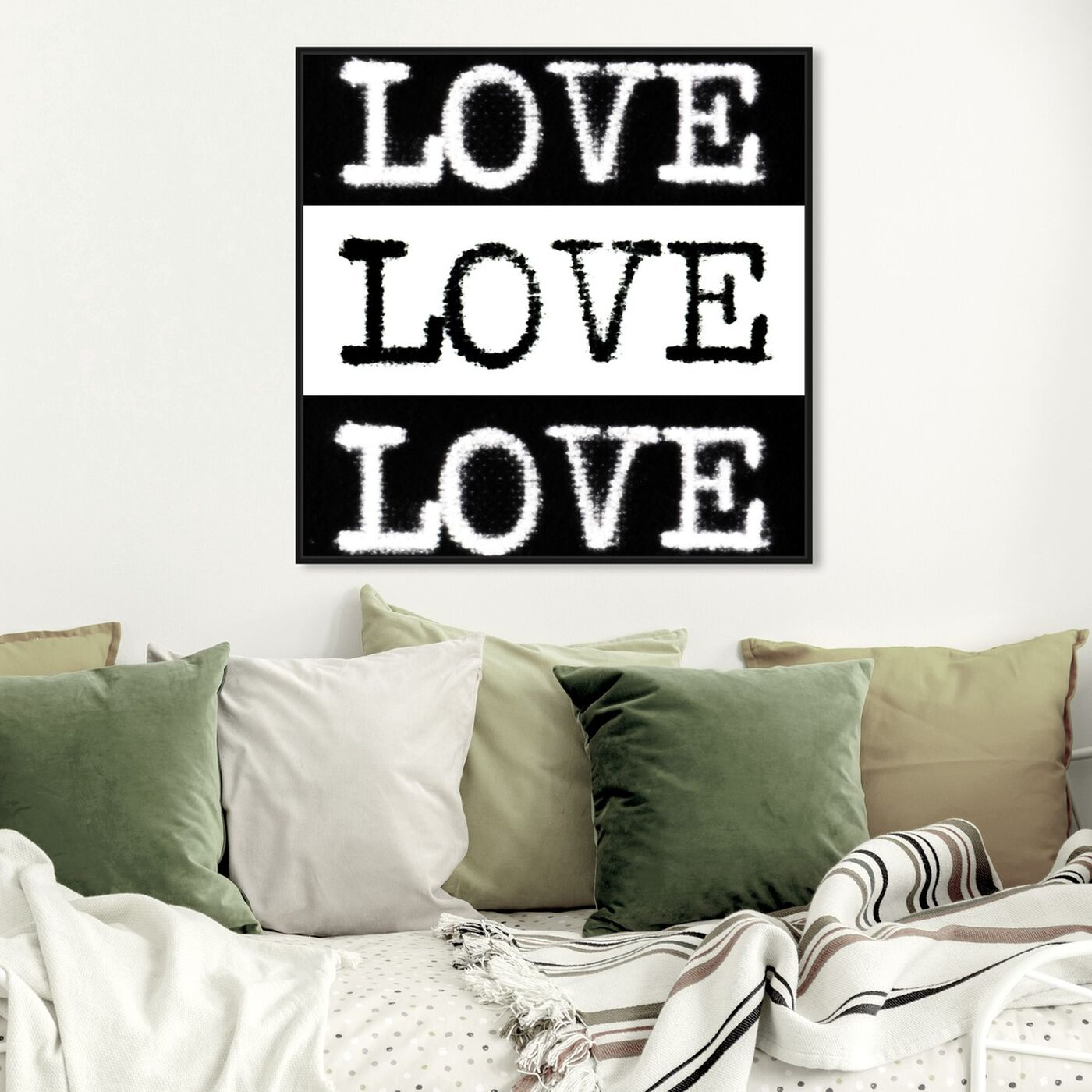 Hanging view of Phylum Design - Censored Love featuring typography and quotes and love quotes and sayings art.