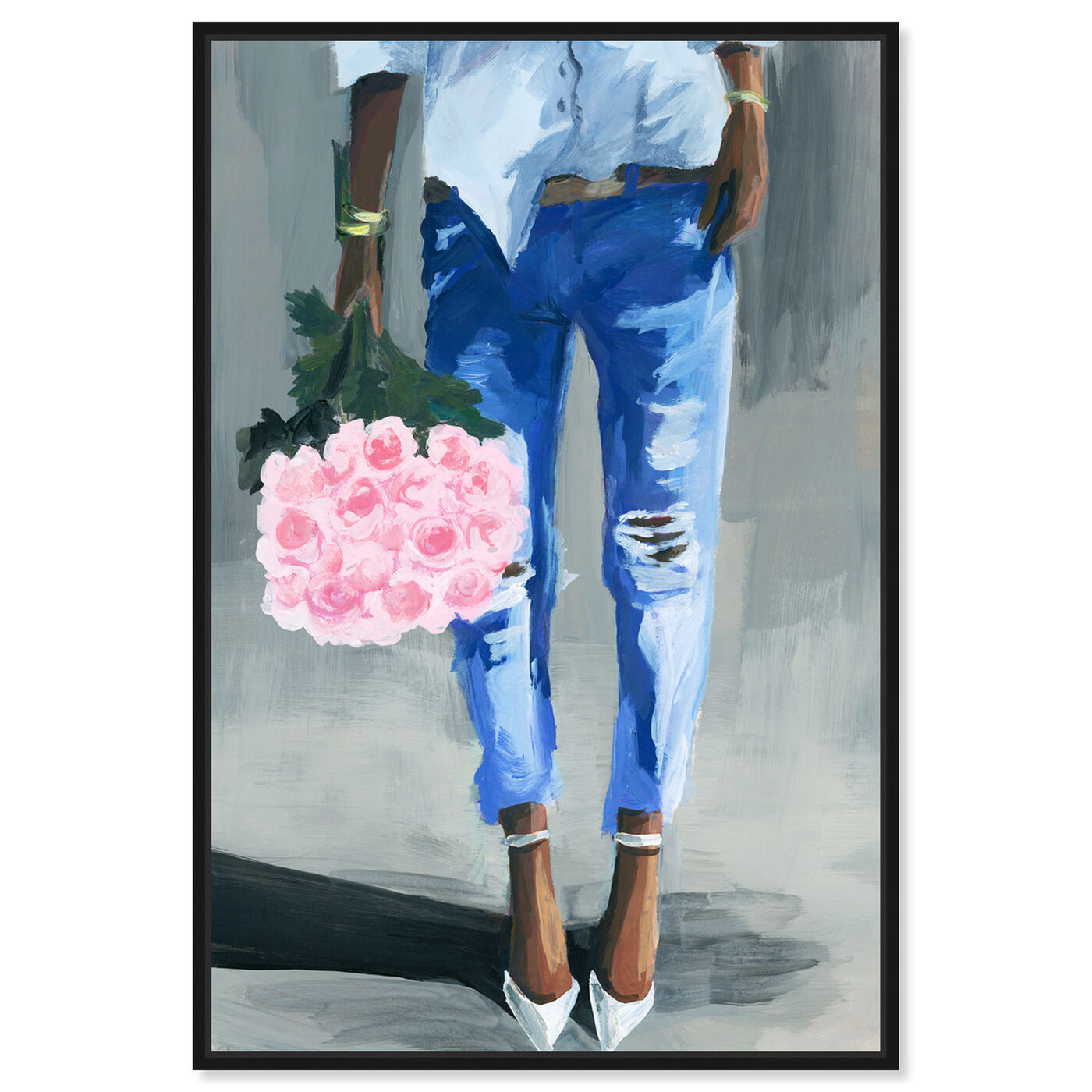 Front view of Me and My Bouquet featuring fashion and glam and outfits art.