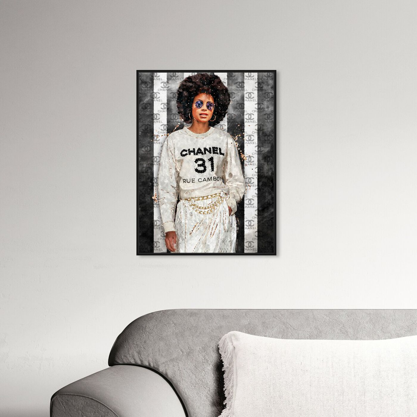 Hanging view of Stay Flo featuring fashion and glam and outfits art.