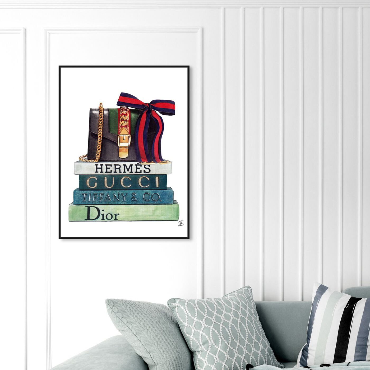 Hanging view of Doll Memories - Luminous Statement featuring fashion and glam and handbags art.