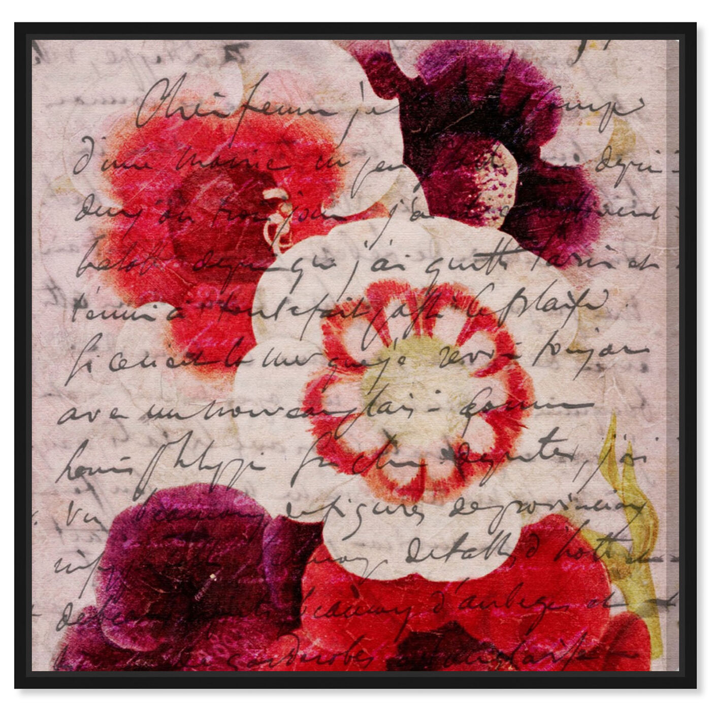 Front view of Victor Hugo Love Declaration featuring floral and botanical and florals art.