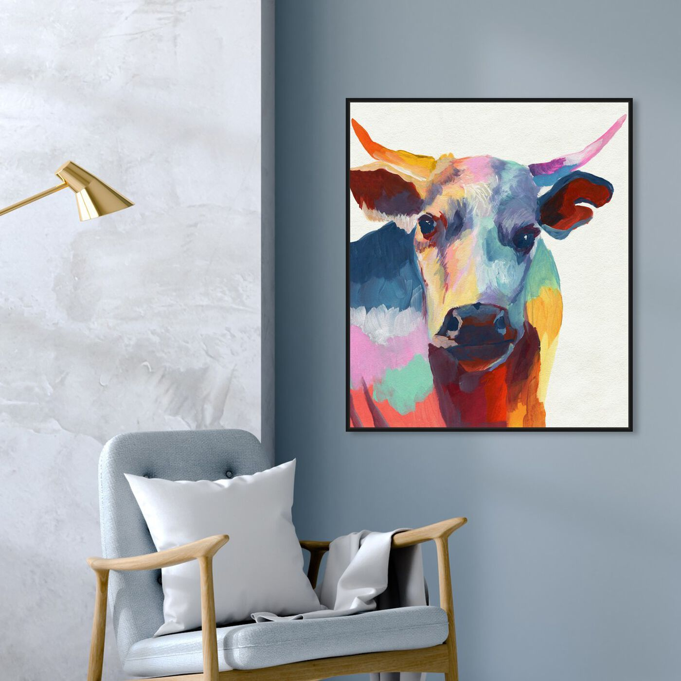 Hanging view of Cow Wow featuring animals and farm animals art.