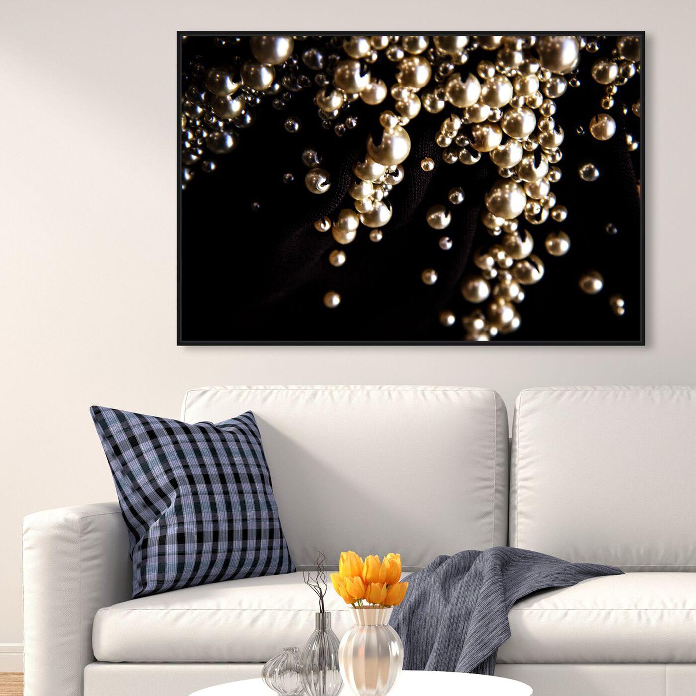 Hanging view of Mark Zunino - Raining Beads III featuring fashion and glam and jewelry art.