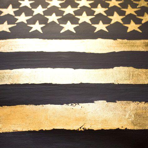 Rocky Freedom - Gold Leaf Embellishment