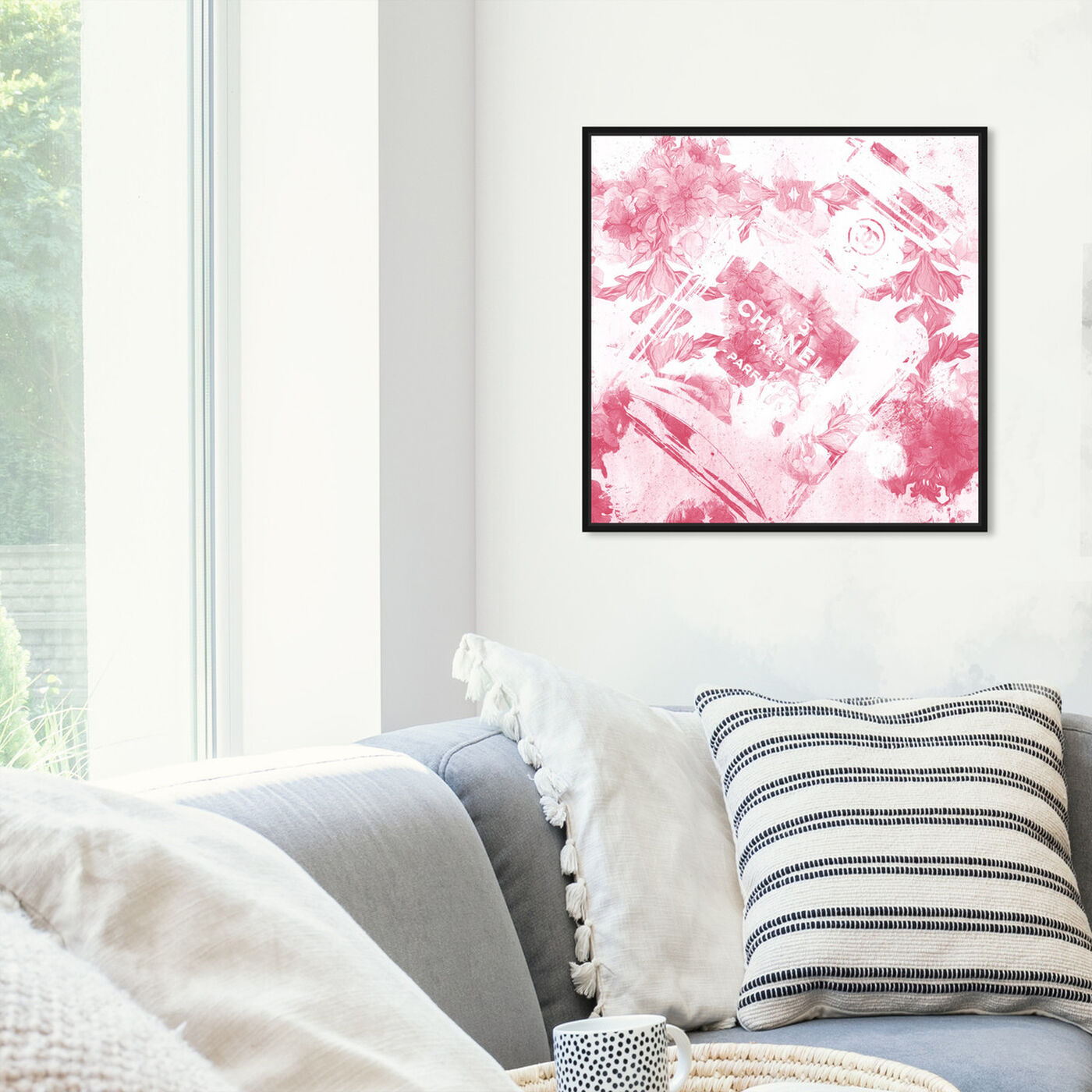 Hanging view of Blush Flower Scent featuring fashion and glam and perfumes art.