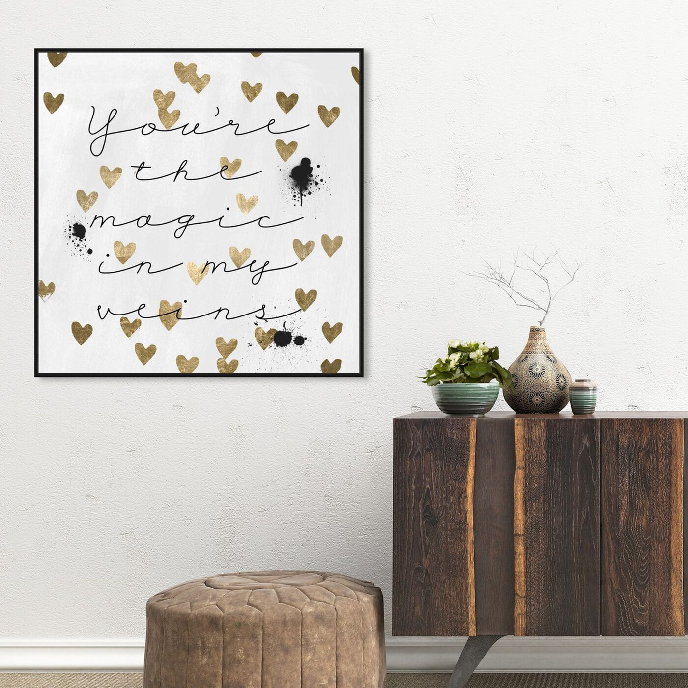 Hanging view of Magic in Me featuring typography and quotes and love quotes and sayings art.