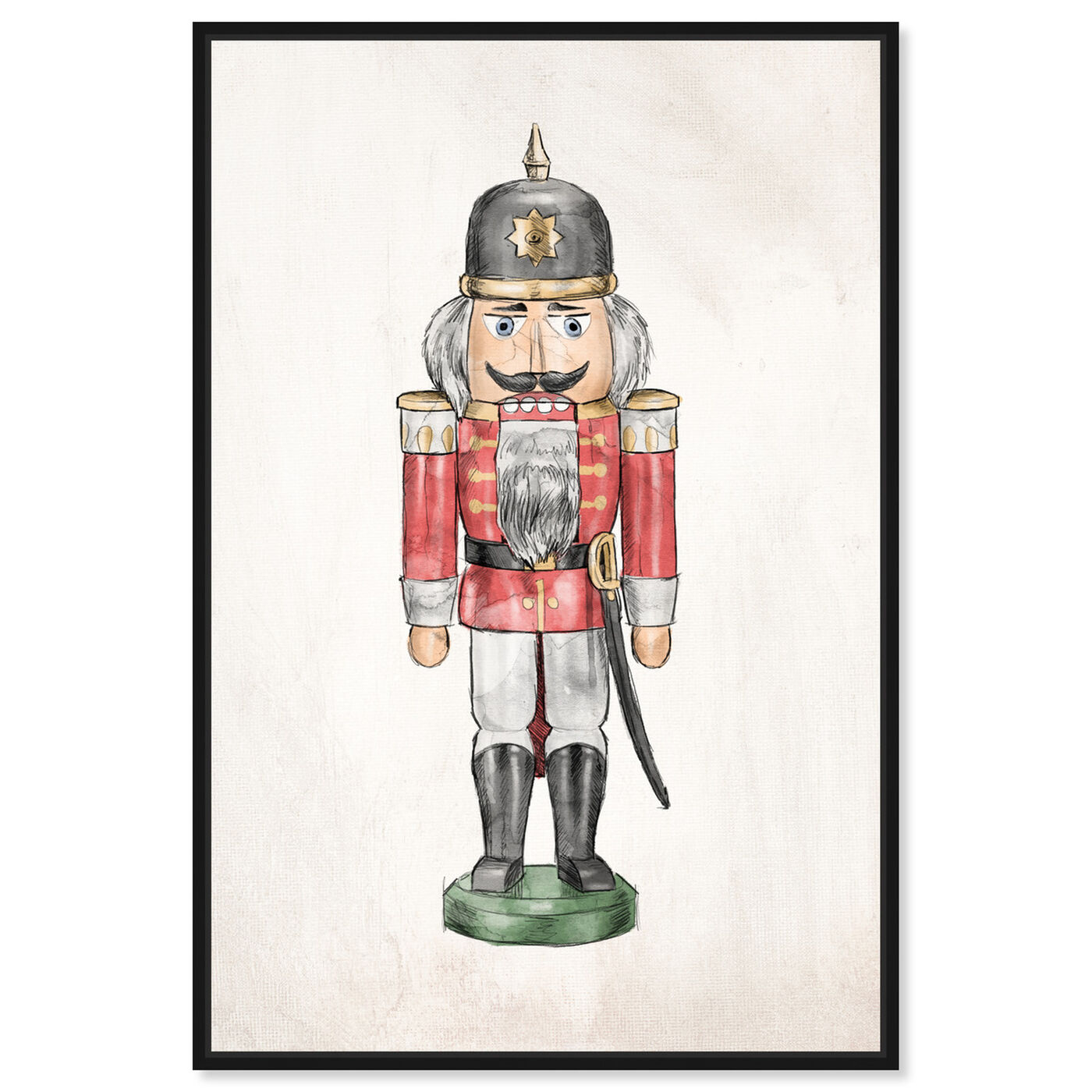 Front view of Nutcracker IV featuring holiday and seasonal and holidays art.