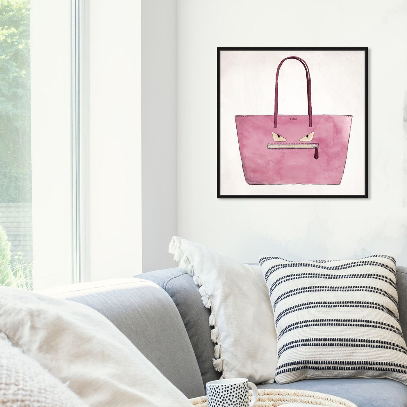 Hanging view of Cousin Its Angry Cousin featuring fashion and glam and handbags art.