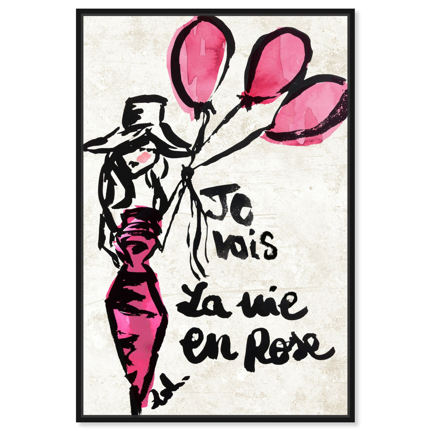 Front view of La Vie En Rose featuring fashion and glam and dress art.
