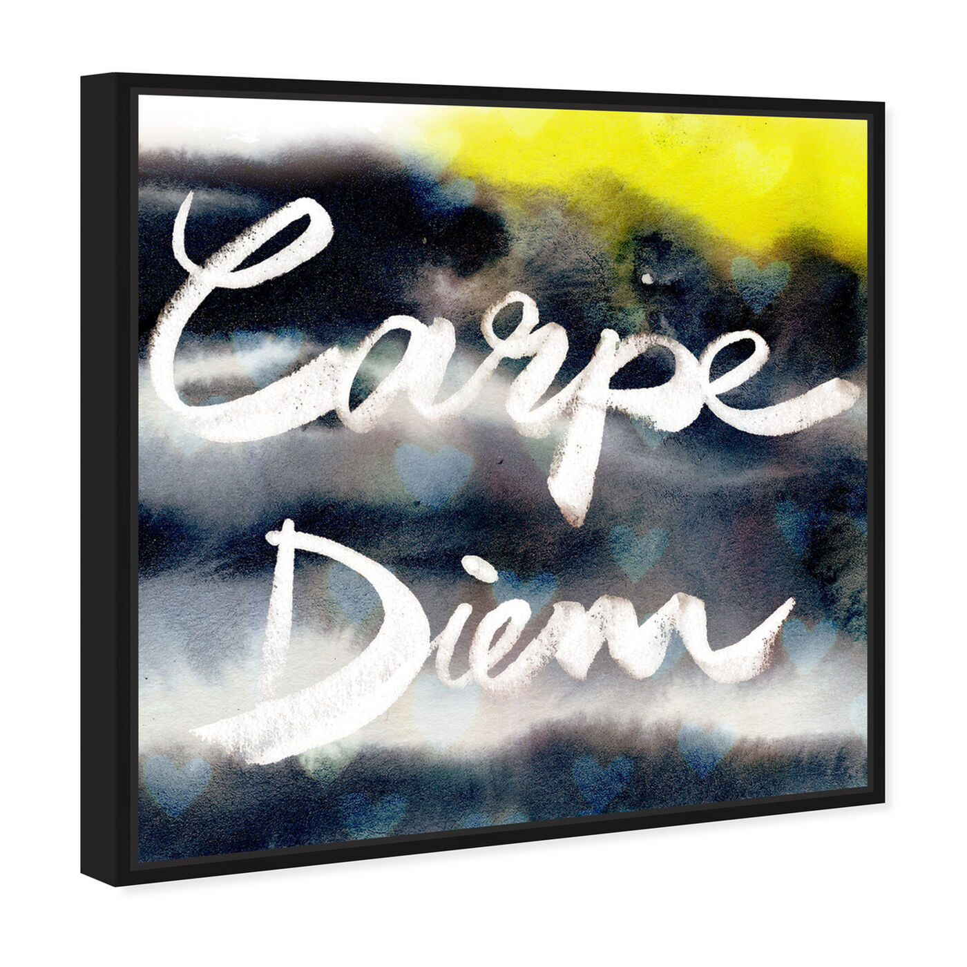 Angled view of Carpe Diem Neon featuring typography and quotes and quotes and sayings art.