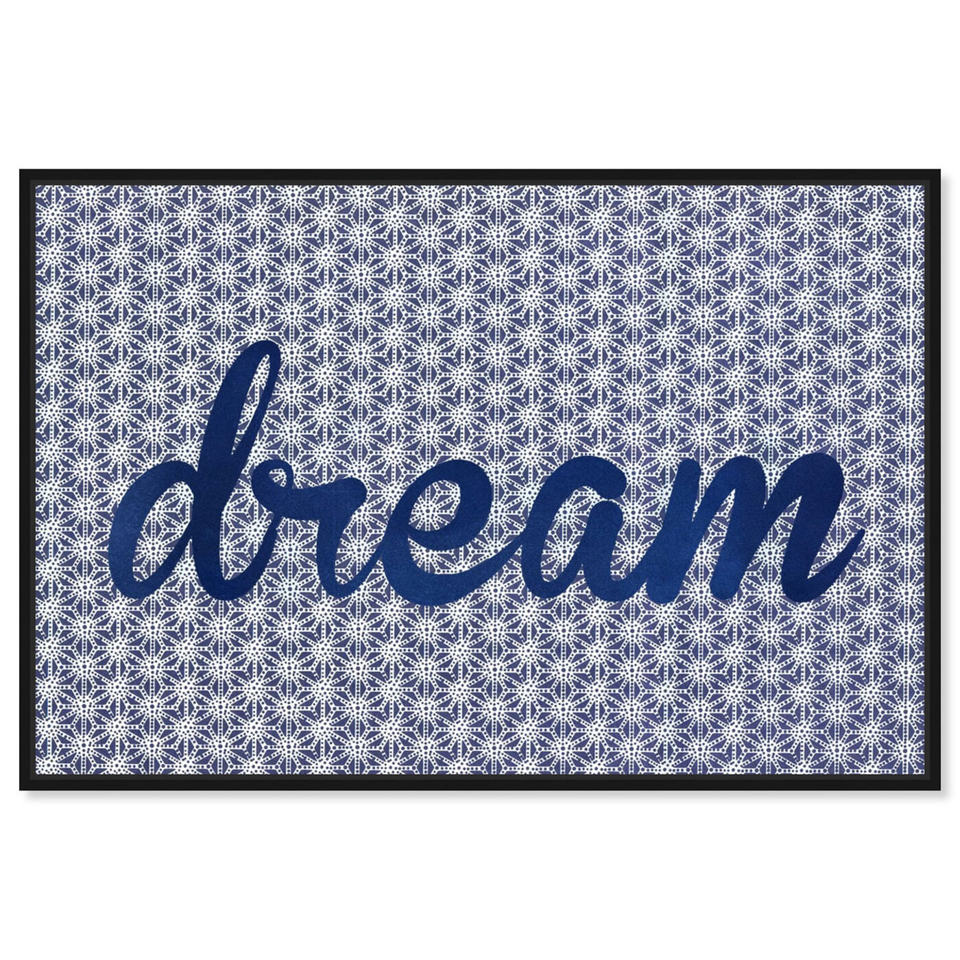 Front view of Dream Dream Dream featuring typography and quotes and motivational quotes and sayings art.
