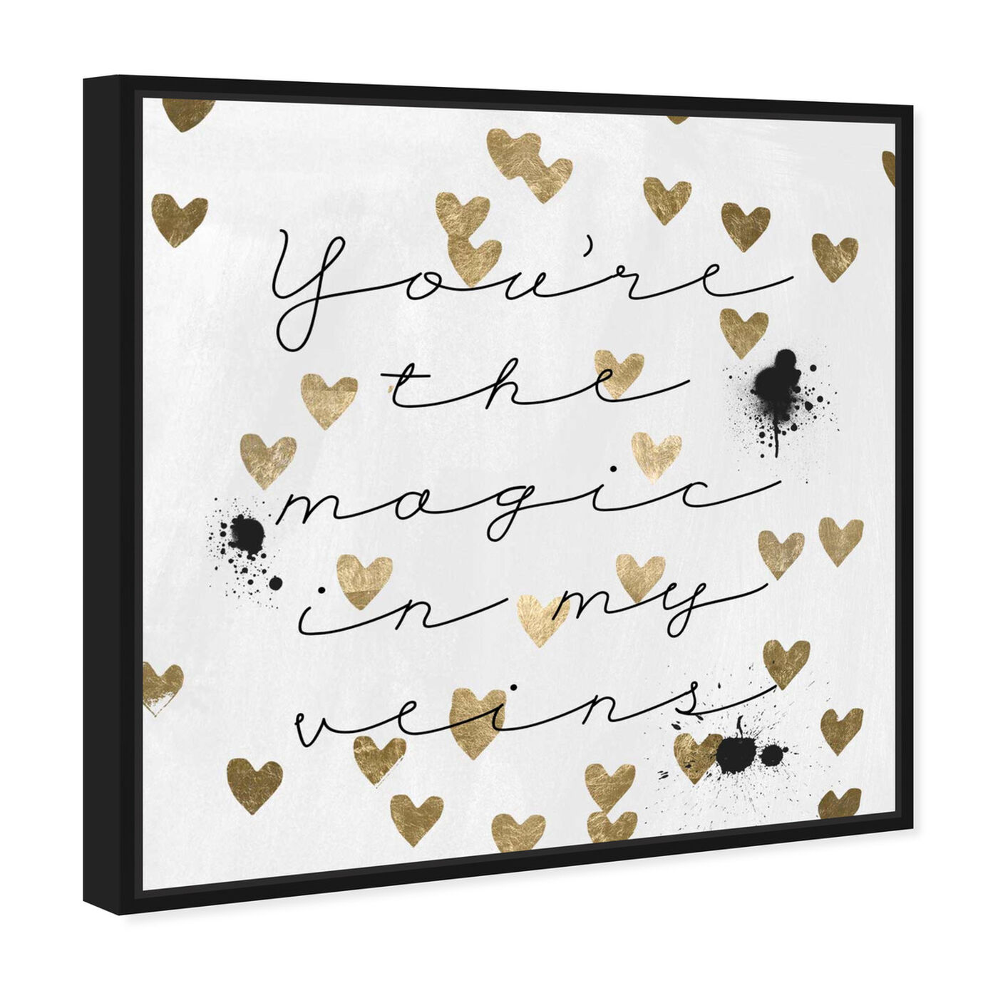 Angled view of Magic in Me featuring typography and quotes and love quotes and sayings art.