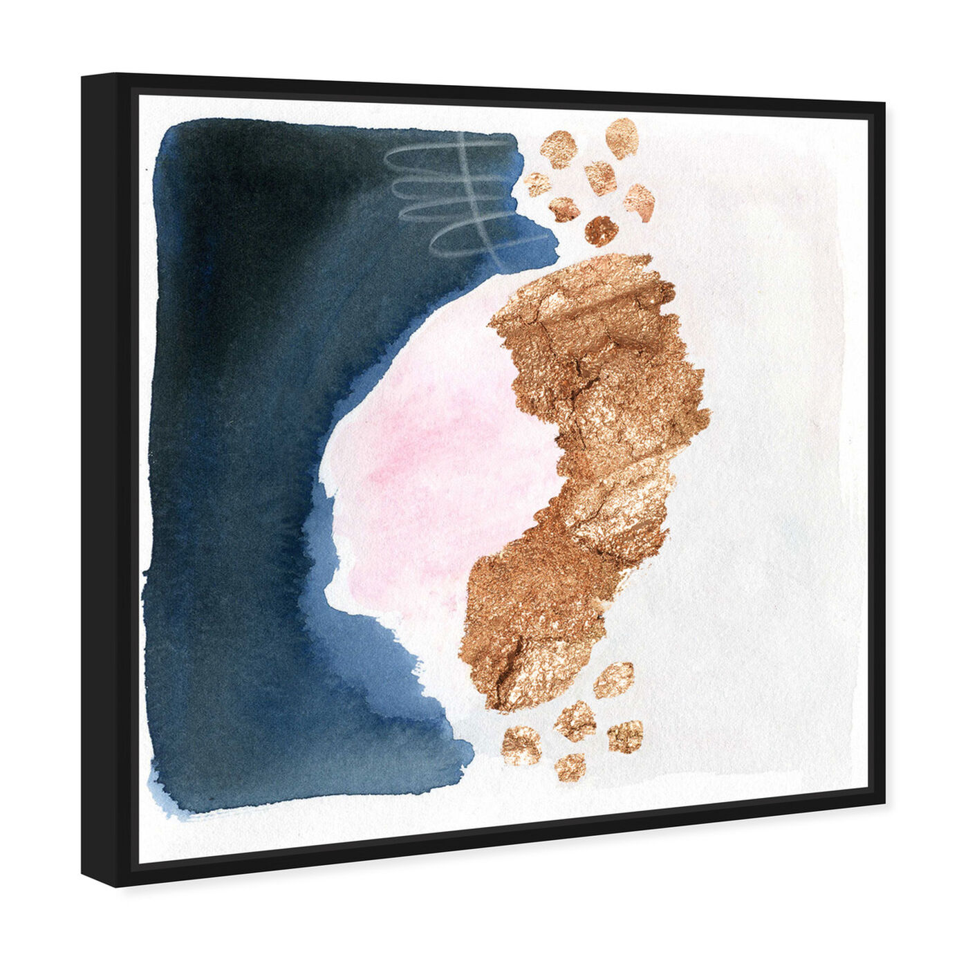 Angled view of Deep Sea Fishing featuring abstract and watercolor art.