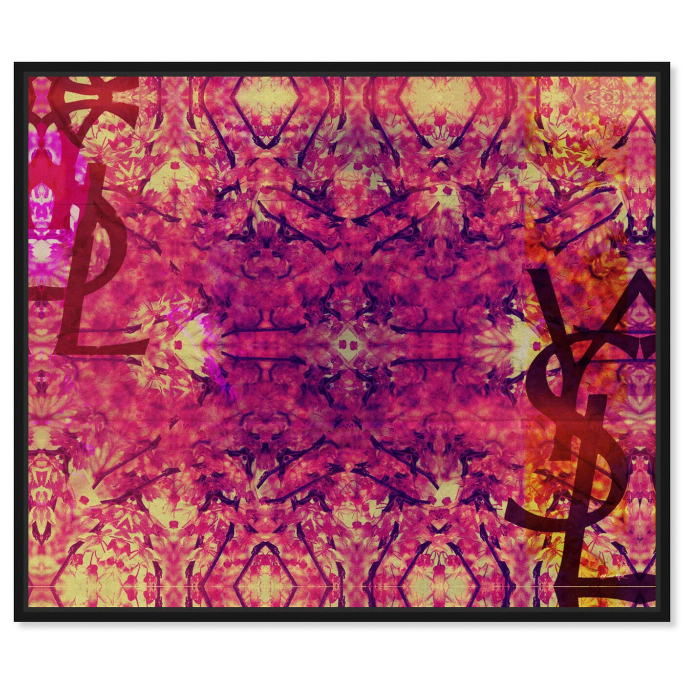 Front view of Jardin Majorelle Pink featuring abstract and patterns art.