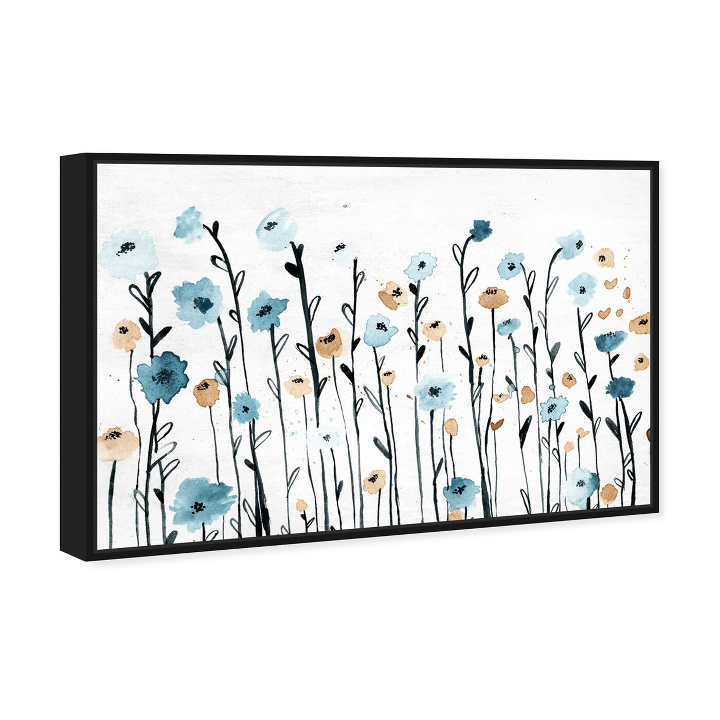 Angled view of Beautiful Growth featuring floral and botanical and florals art.