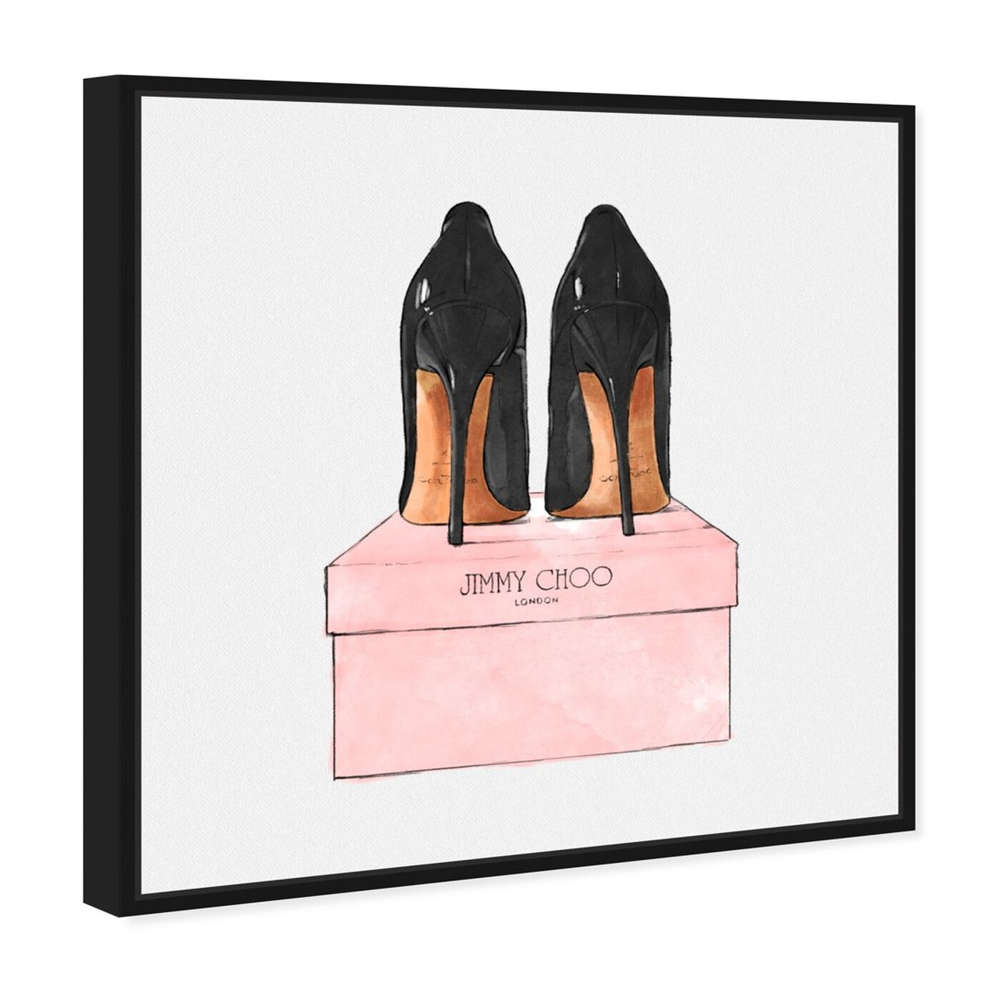 Angled view of Night Out Stilettos Square featuring fashion and glam and shoes art.